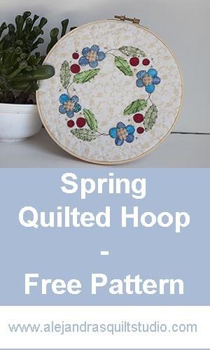 Spring quilted hoop tutorial