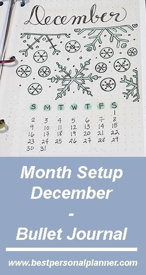 December Month Setup - Bullet Journal