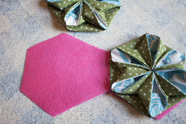 Fabric Flower Needle Book Tutorial