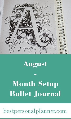 Month sepup Bullet Journal August