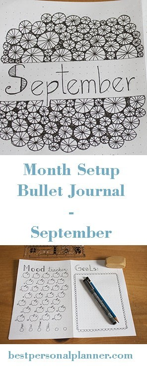 Month Setup Bullet Journal - September