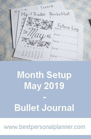 Bullet Journal Month Setup - May 2020