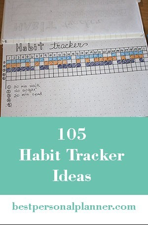 105 Habit Tracker Ideas