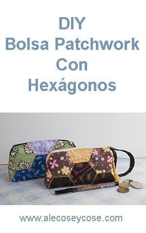 bolsa patchwork hexies