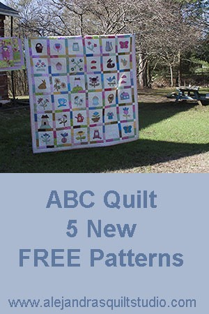 ABC quilt 5 new free patterns