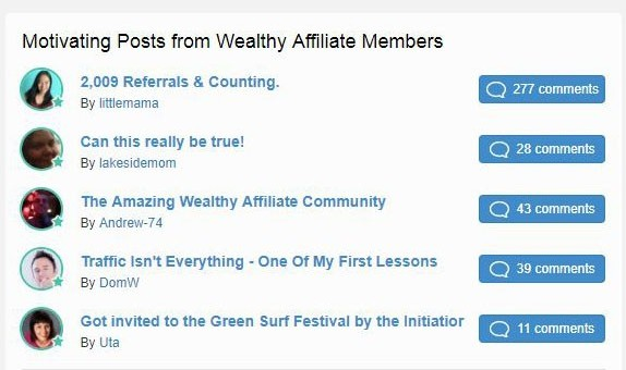motivating post from wealthy affiliate