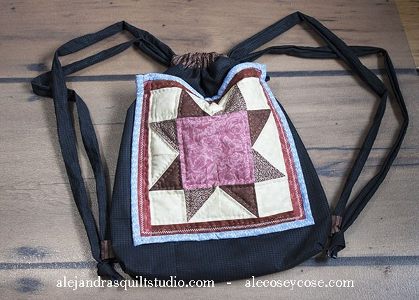 Patchwork Backpack Drawstring Tutorial