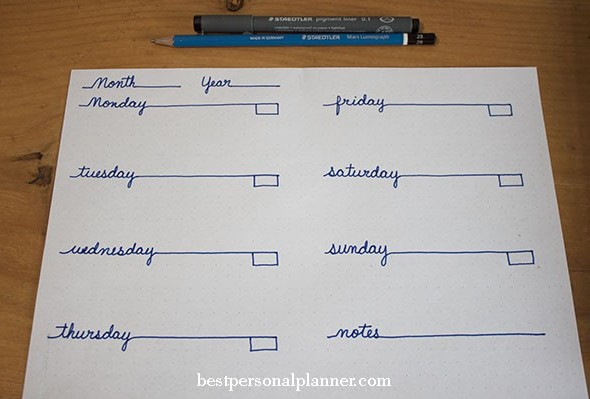 weekly layout ideas