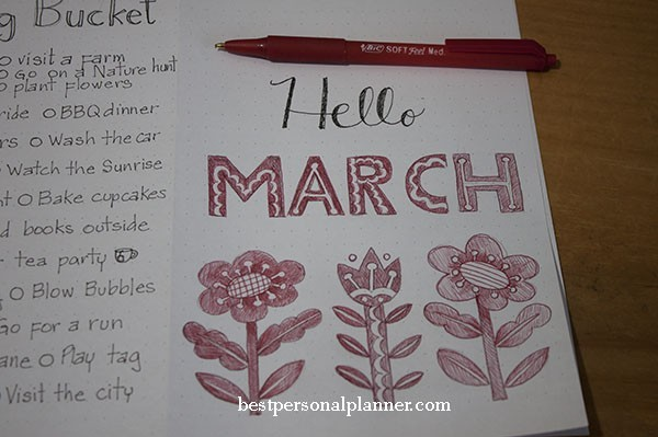 bullet journal month cover