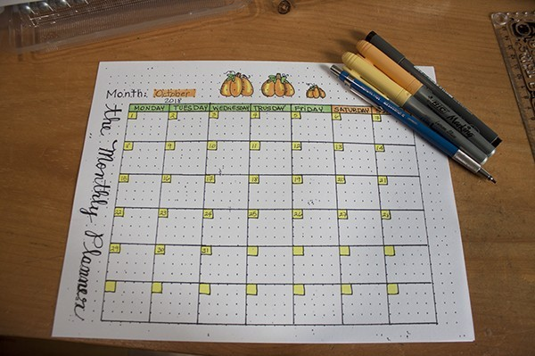 Month Setup Bullet Journal - October