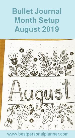 bullet journal month setup