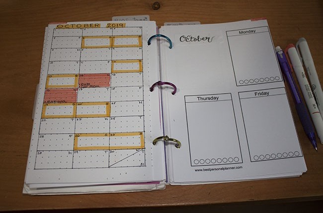 October Monthly Setup - Bullet Journal