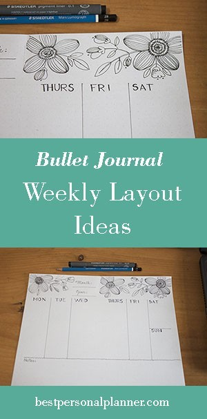 weekly spread ideas bullet journal