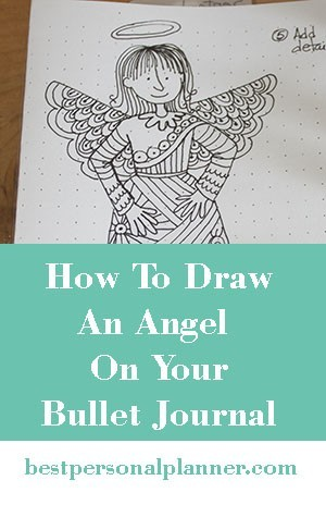 How To Draw An Angel - Bullet Journal