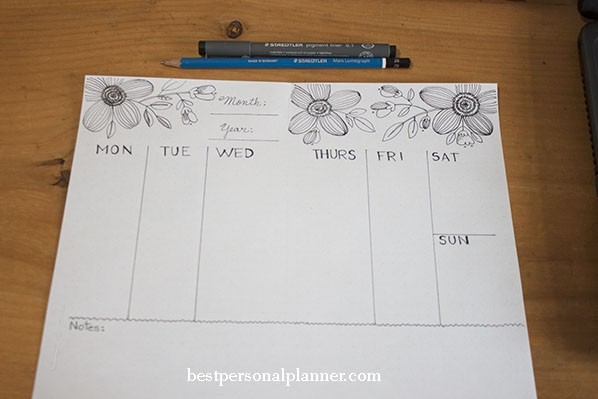 weekly spreads ideas