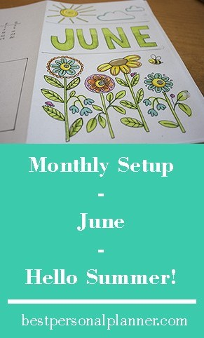 Monthly Setup - June - Hello Summer
