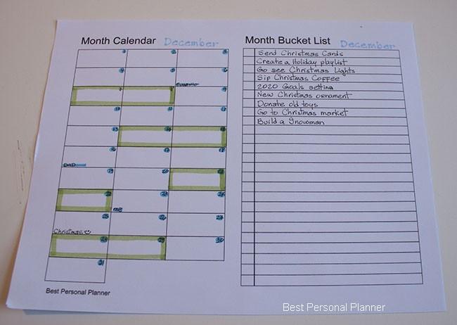 Month Setup Bullet Journal - December