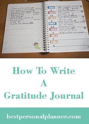 how to write a gratitude journal