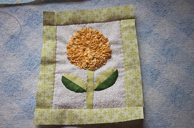 Cómo Hacer Una Flor De Tela Fruncida - Flor Patchwork