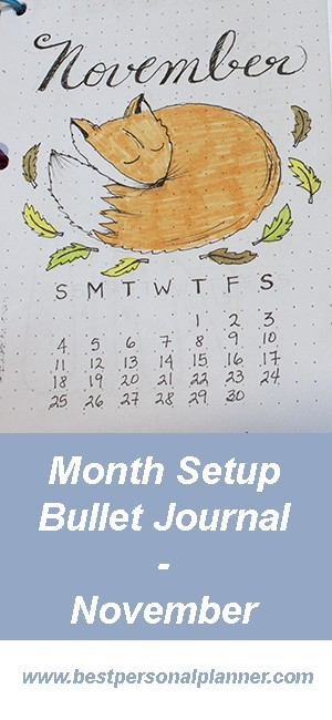 Month Setup Bullet Journal - November