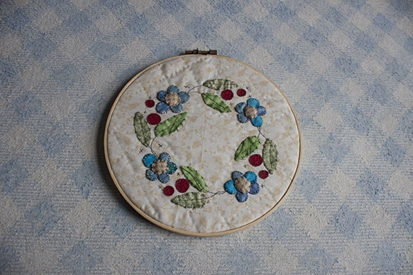 Spring Quilted Hoop Tutorial