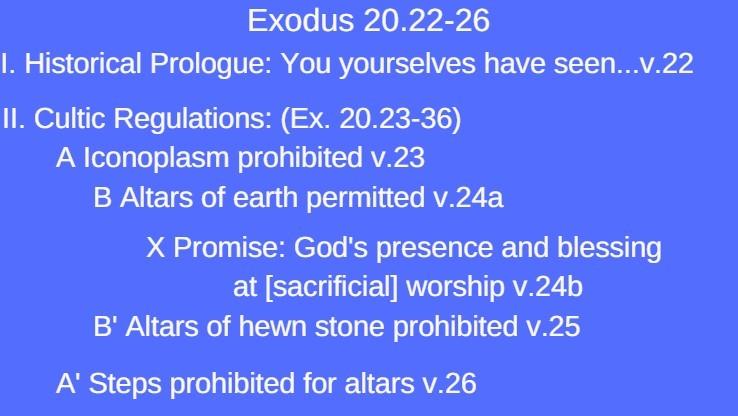 exodus 20.22-26 structure
