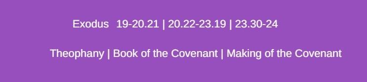 narrative framework book of the covenant