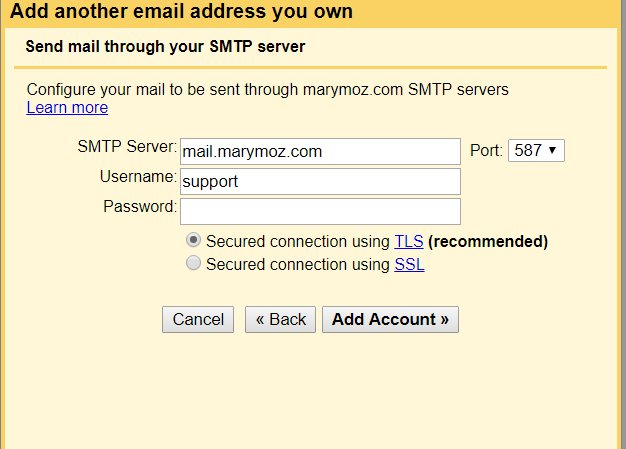 how to create my own personal email address