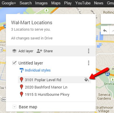 how to create my location in google map