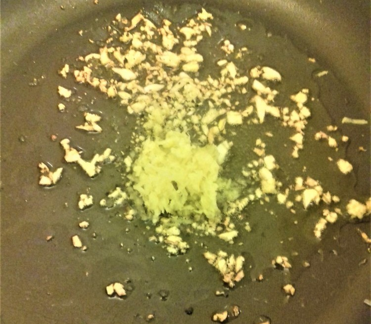 Garlic and Ginger on Frying