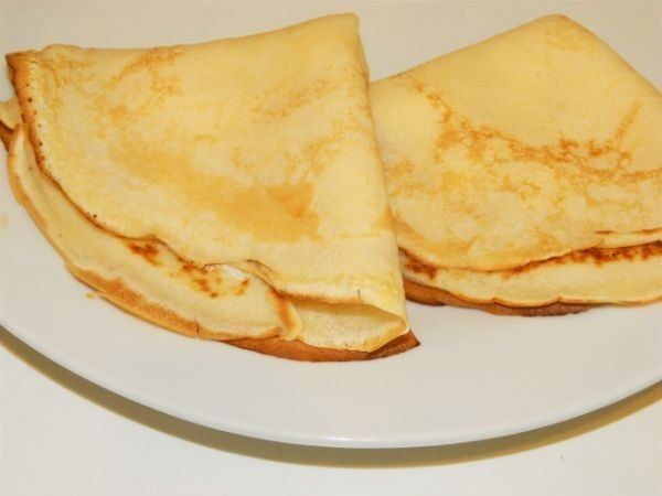 Cream Cheese Filling Crepes Recipe-Filled and Folded Crepes