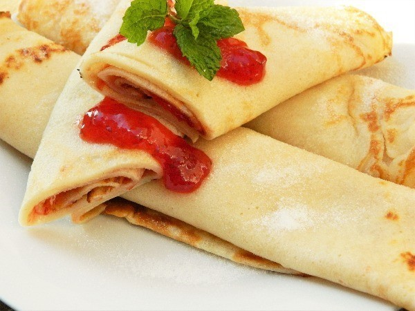 Cream Cheese Filling Crepes Recipe-Raspberry Jam Filled Crepes
