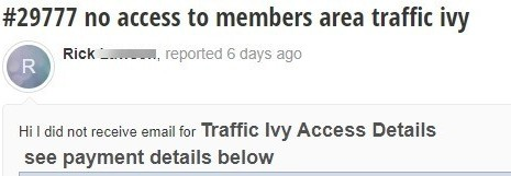 support ticket to traffic ivy