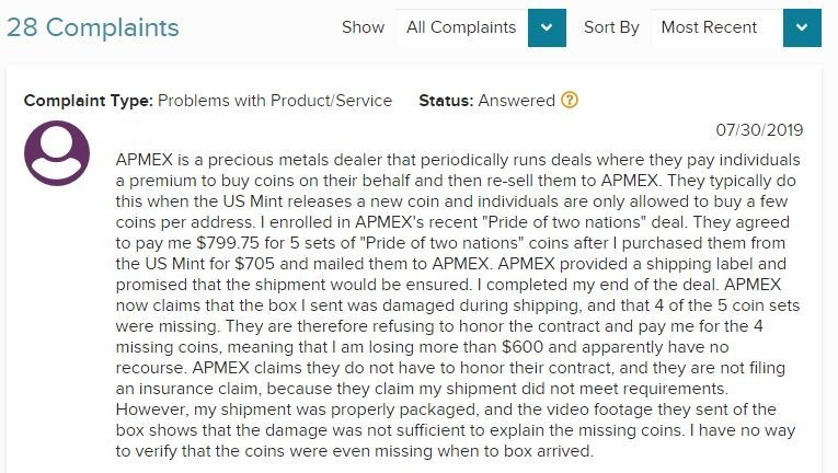 APMEX Review - what they not telling