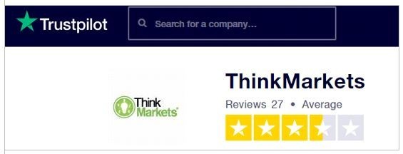 ThinkMarket reviews - Trustpilots review
