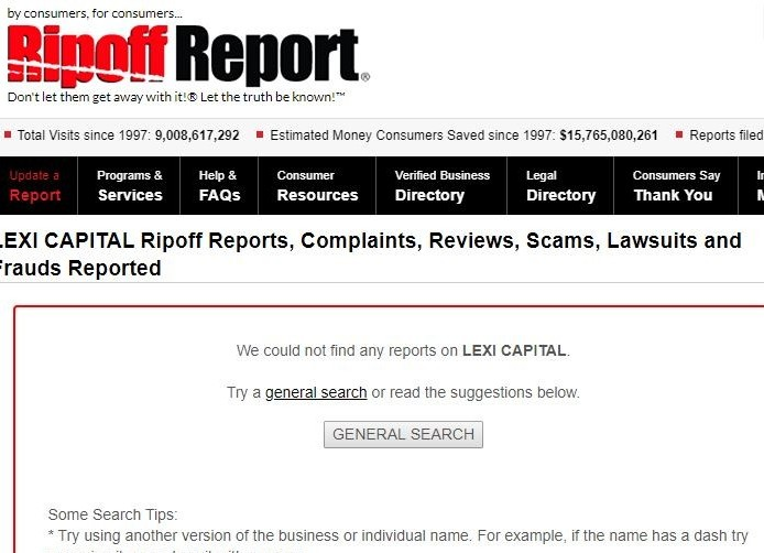 lexi capital review - ripoff report