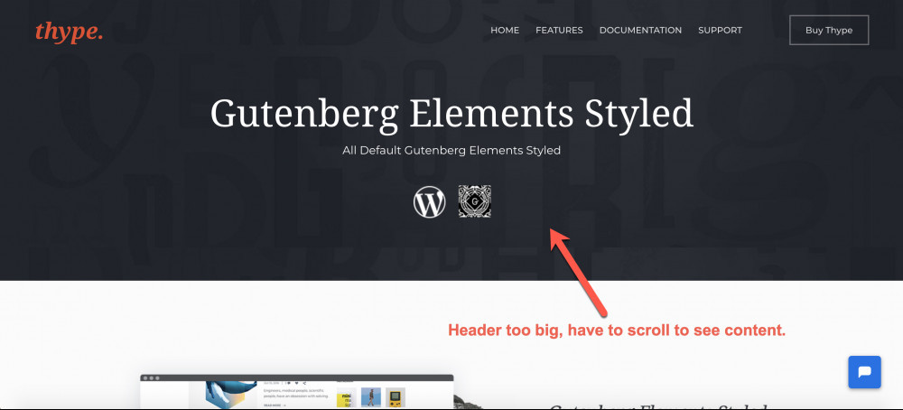 Wordpress Header Image Too Big