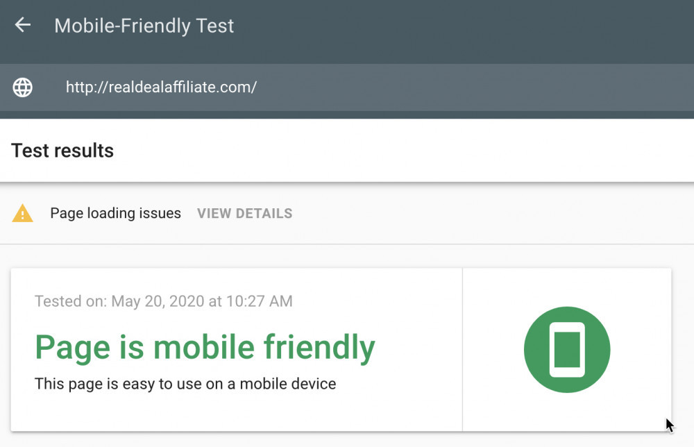 Google Mobile Friend Test