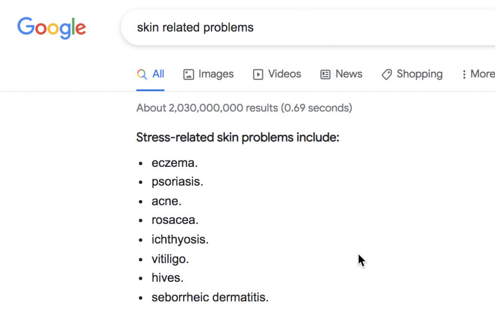 Skin Related Problems Google Search