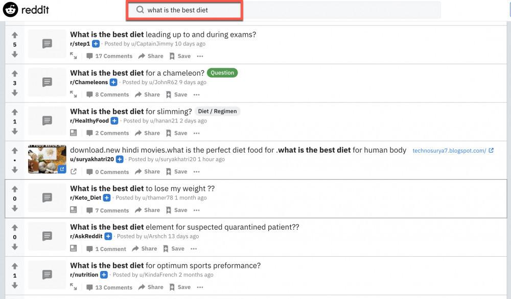 What is the Best Diet - Reddit