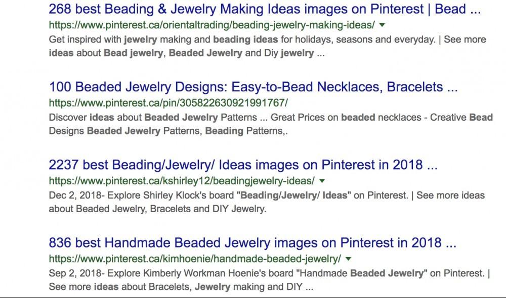 Beading Pinterest