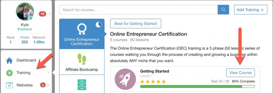 The Online Entrepreneur Certification (OEC) training series