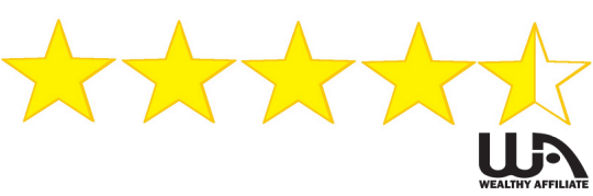 Stars, showing 4 full yellow ones and one half yellow-half white, showing the rank of the course as 4.5