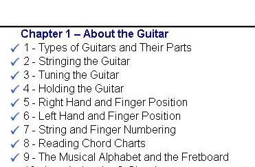 eMedia Guitar Method Progress Tracking