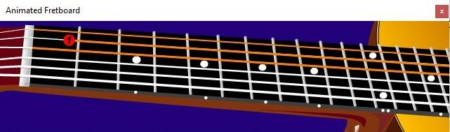 eMedia Guitar Method Animated Fretboard