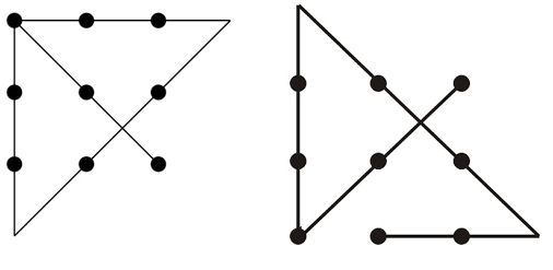 The Answer Of 9 Dots 4 Lines