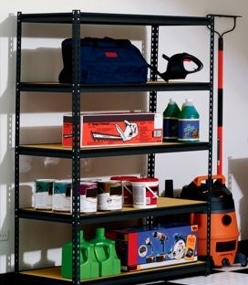 how to organize a messy garage shelving and rack on a budget