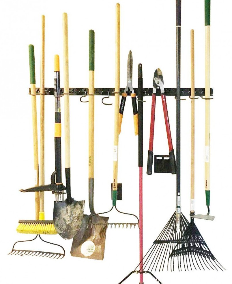 how to organize a messy garage - Adjustable garage storage system for tools