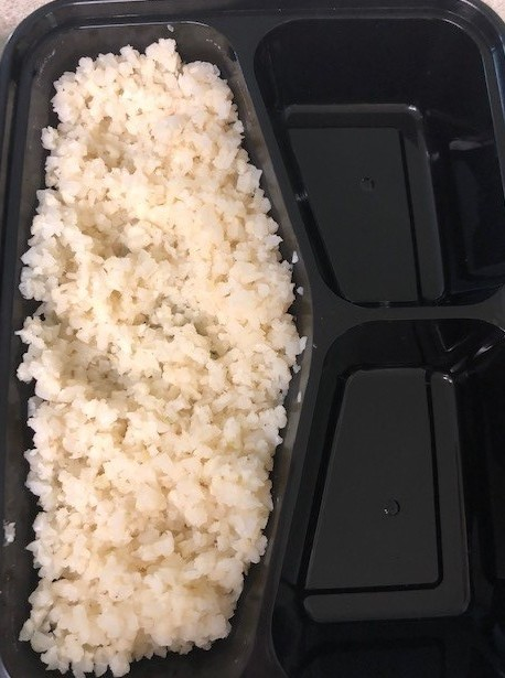cauliflower rice for california sushi roll