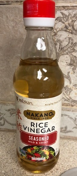seasoned rice vinegar for california sushi roll